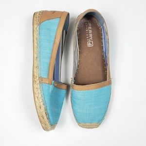 Sperry Women's Canvas Espadrille Loafer Size 9